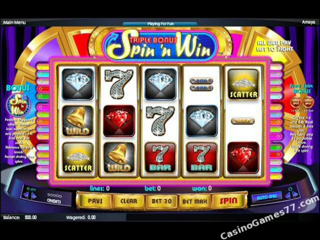 Spiele Triple Bonus Spin N Win - Video Slots Online