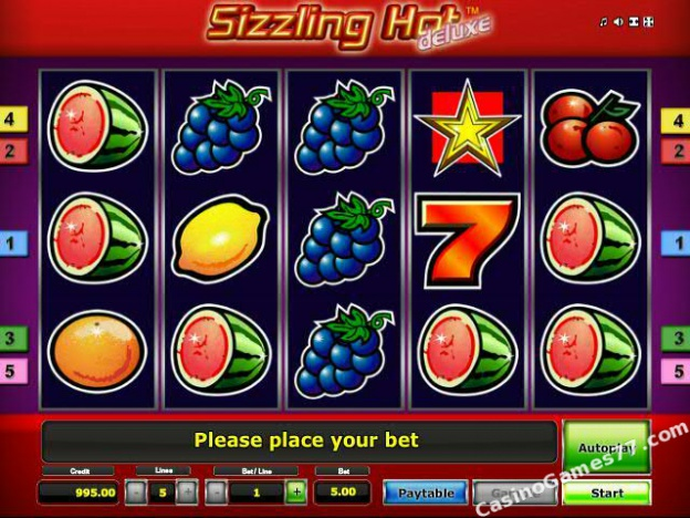Sizzling Hot For Real Money - Online Casino - Deluxe Slot Machine