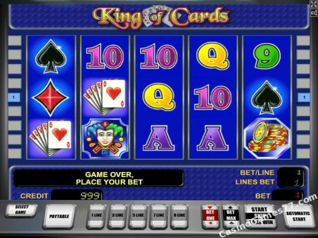 play online casino king of cards