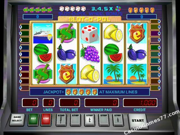 Slot-O-Pol Deluxe Slot Machine - Play for Free or Real Money