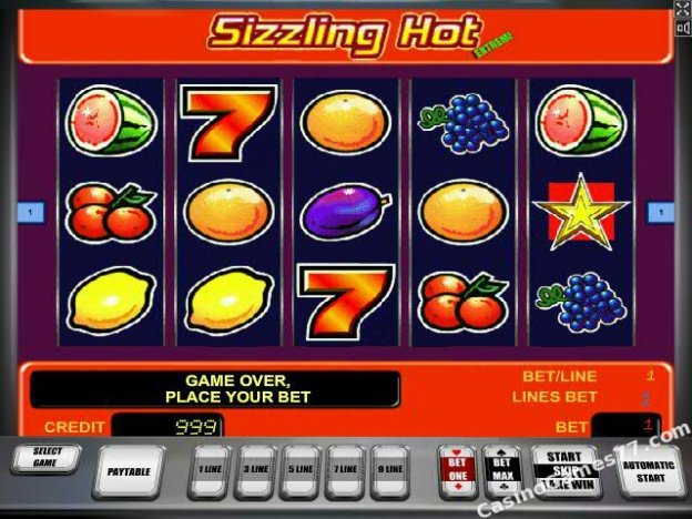 free games gaminator sizzling hot