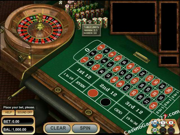 online casino games european roulette play