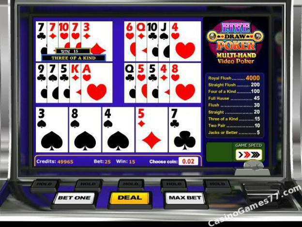 free 5 card draw poker game download