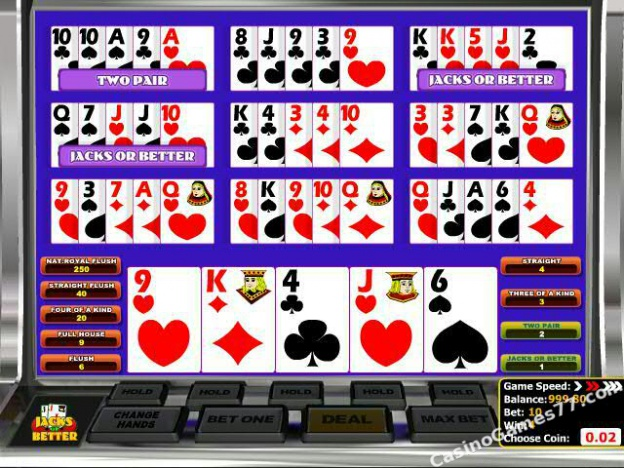 Play Jacks or Better Multi-Hand Video Poker at Casino.com Australia