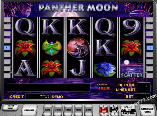 Rules of the Panther Moon Slot