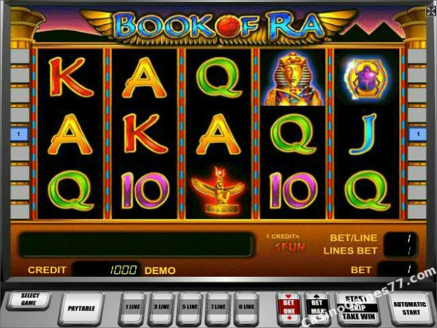 casino games book of ra