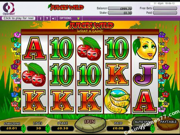 Juices Wild Slots - Play the Free OpenBet Casino Game Online