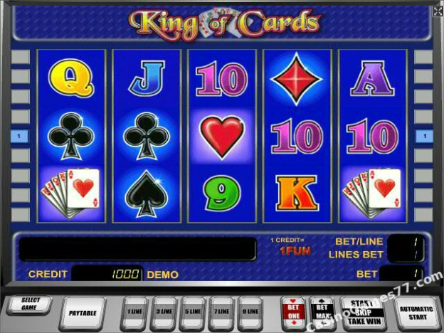 free online casino slot king of cards