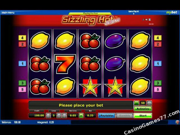 online casino games sizzling hot free game