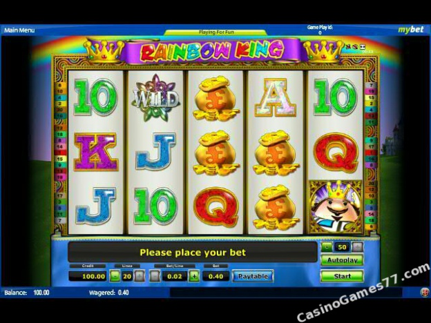 play online casino rainbow king