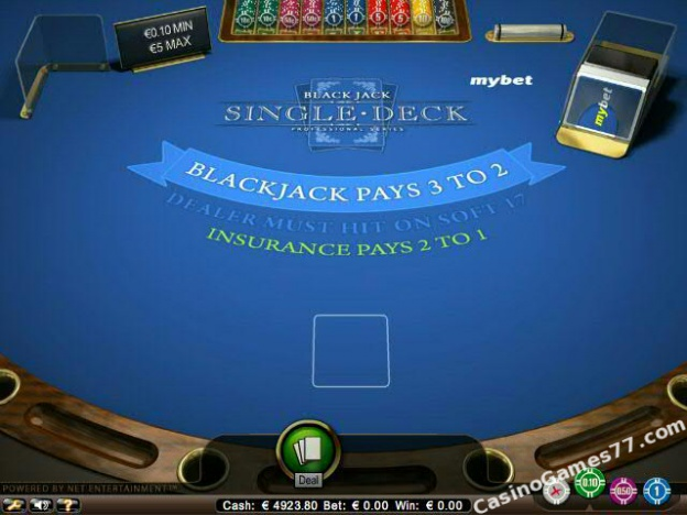Single Deck Blackjack Low Limit